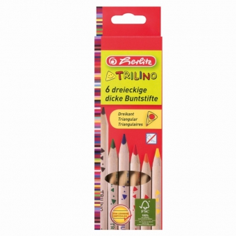 Creioane color triunghiular Trilino 1/1 set 6 bucati