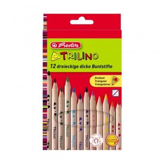 Creioane color triunghiular Trilino 1/1 set 12 bucati