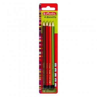 Creioane grafit, mina B, 2B, H, HB set 4 bucati/blister