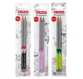 Creioane My.Pen, mina HB diverse combinatii de culori set 2 bucati