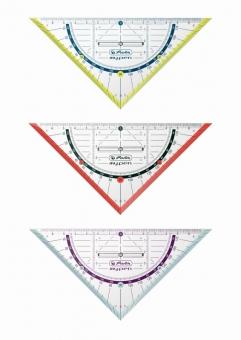 Echer/raportor My.Pen 16 cm cu grip disponibil în 3 culori