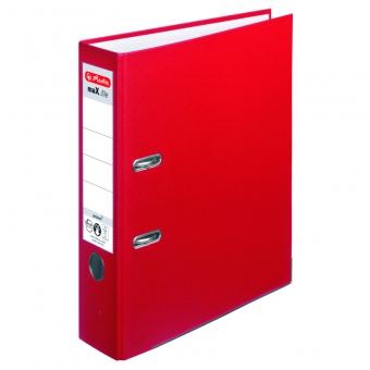 Biblioraft A4 pp 8 cm, culoare rosu Herlitz