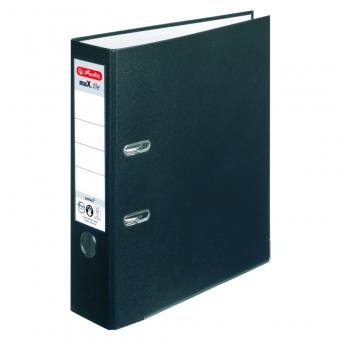 Biblioraft A4 pp 8 cm, culoare negru Herlitz