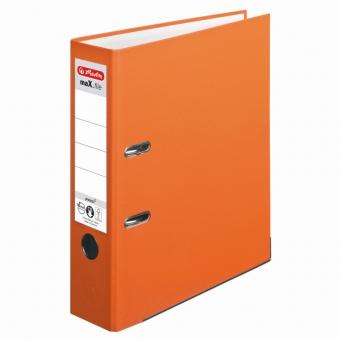 Biblioraft A4 pp 8 cm, culoare orange Herlitz