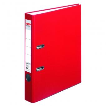 Biblioraft A4 pp 5 cm, culoare rosu Herlitz