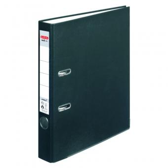 Biblioraft A4 pp 5 cm, culoare negru Herlitz