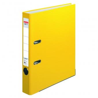 Biblioraft A4 pp 5 cm, culoare galben Herlitz