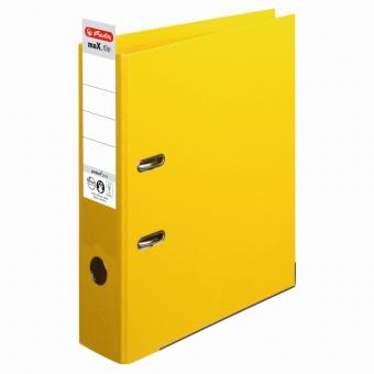 Biblioraft A4 pp (interior-exterior) 8cm chromocolor, culoare galben