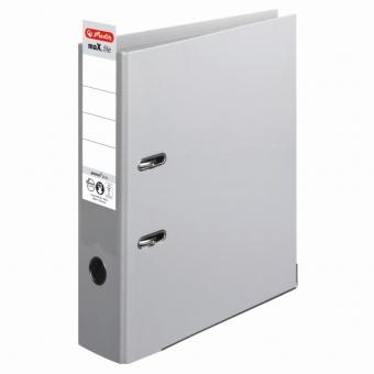 Biblioraft A4 pp (interior-exterior) 8cm chromocolor, culoare gri