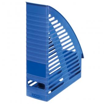 Suport dosare plastic, culoare albastru Herlitz