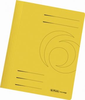 Dosar carton sina A4, culoare galben