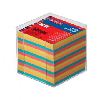Cub hartie color 9x9x9 cm 650 file cu suport