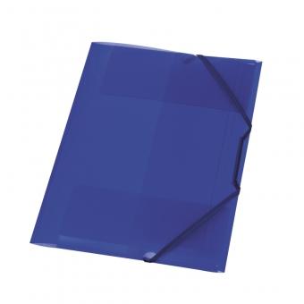 Mapa pp A4 15 mm cu elastic, culoare albastru regal translucid