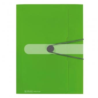 Mapa pp EOTG A4 30mm închidere cu elastic, culoare verde opac