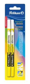 Carioca corectoare Highlighter+textmarker loscher, varf M, set 2, blister