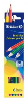 Creioane color lacuite, set 6 culori, varf 3,0mm, lung. 17,5 cm
