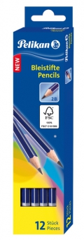 Creion grafit, lacuit, mina 2B