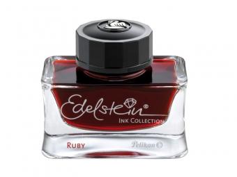 Cerneala premium Edelstein, borcan 50ml, culoare rosu rubin