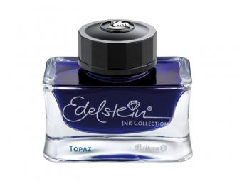 Cerneala premium Edelstein, borcan 50ml, culoare albastru topaz
