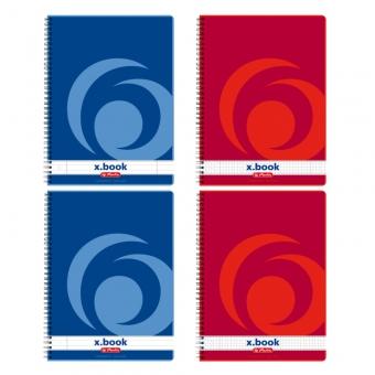 Caiet A4 160 file cu spirala, dictando - X.Book