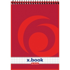 Bloc Notes A5 50F patratele cu spirala - X.Book