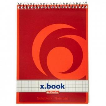 Bloc Notes A6 50F patratele cu spirala - X.Book