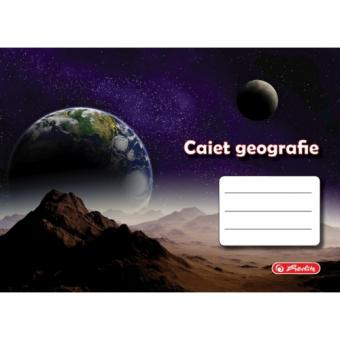 Caiet 24 file geografie, motiv Rock Your School