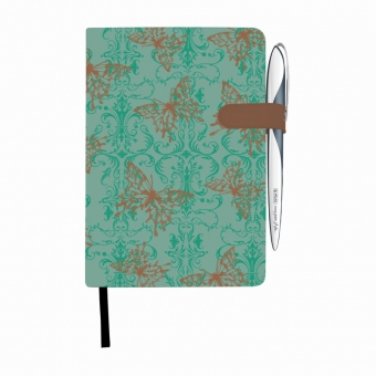 Bloc Notes A5 96 file dictando coperta tare lucioasa cu magnet, motiv My Book Classic Butterly