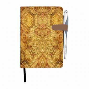 Bloc Notes A5 96 file dictando coperta tare lucioasa cu magnet, motiv My Book Classic Oriental