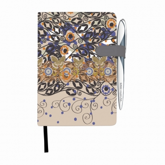 Bloc Notes A5 96 file dictando coperta tare lucioasa cu magnet, motiv My Book Classic Romantic