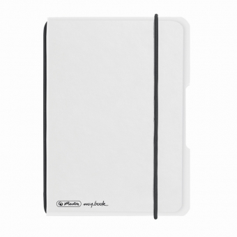 Caiet My.Book Flex A6 40f 70gr dictando, coperta transparenta, elastic negru