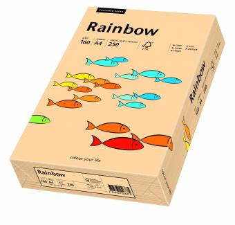 Hartie colorata somon Rainbow A4, 160gr/mp, 250coli/top
