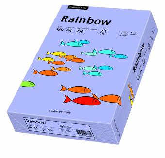 Hartie colorata mov Rainbow A4, 160gr/mp, 250coli/top