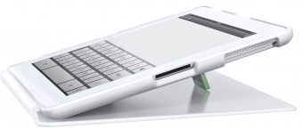 Carcasa LEITZ Complete, cu stativ si capac, pentru noul iPad/iPad 2 - alb