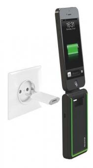 Incarcator LEITZ Complete, 3 în 1 cu conector Lightning  pentru iPhone 5/5S/5C/6/6 Plus - negru