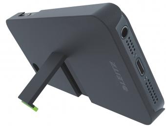 Carcasa LEITZ Complete, cu stativ pentru iPhone 5 - negru