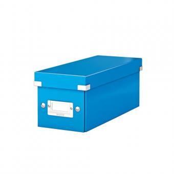 Cutie pentru 30/60 CD-uri cu carcasa Jewel/Slim, LEITZ Click & Store, carton laminat - albastru