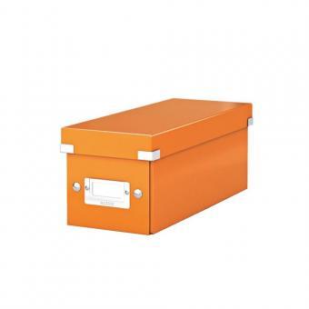 Cutie pentru 30/60 CD-uri cu carcasa Jewel/Slim, LEITZ Click & Store, carton laminat - portocaliu